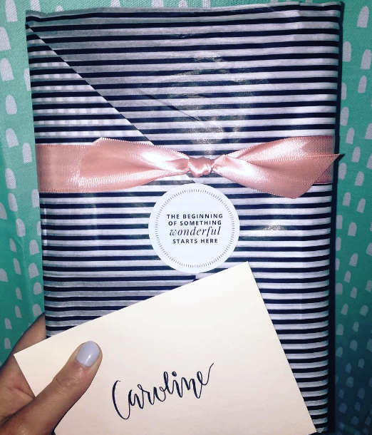 This is an actual photo from the notepad I had sent to my friend Caroline. The packaging is stunning!