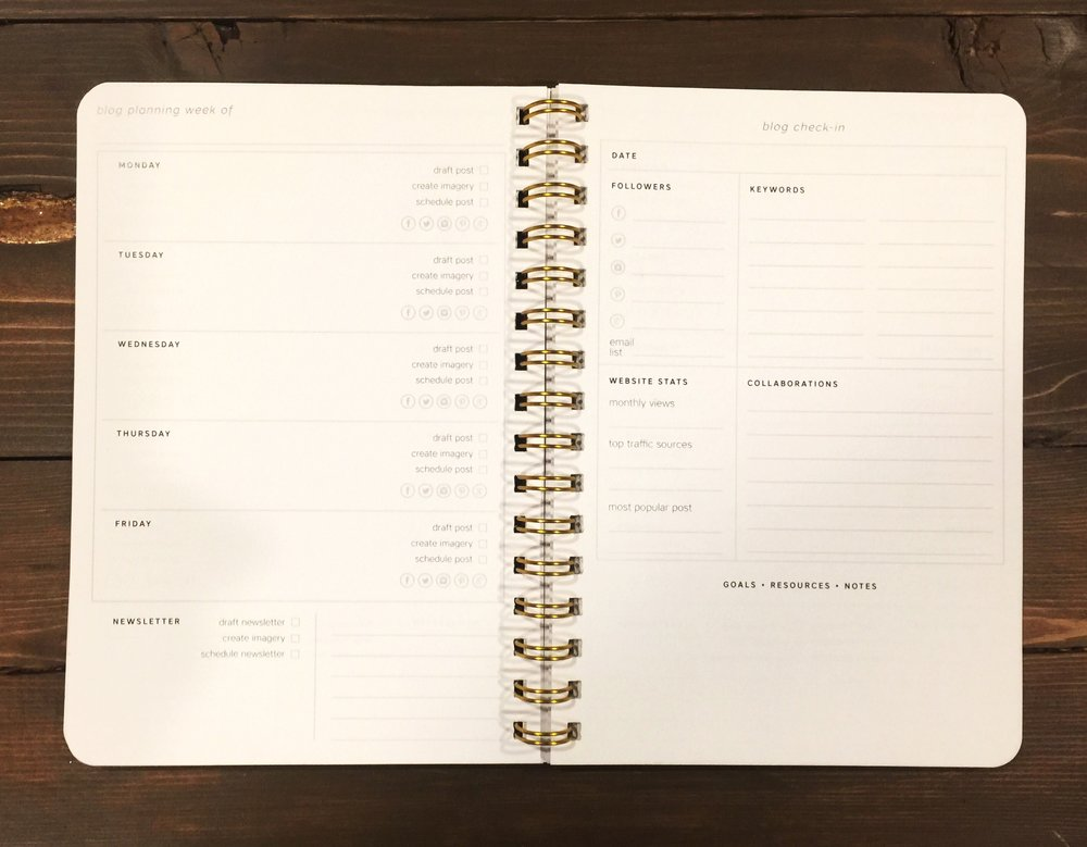 J.Lynn Designery's blog planner. I have absolutely loved using this to keep my blog up and running better than ever!