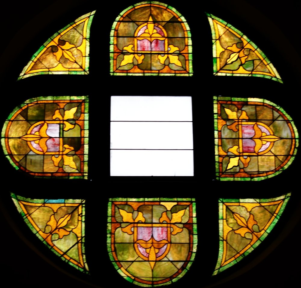 a closer look at the gorgeous stained glass window