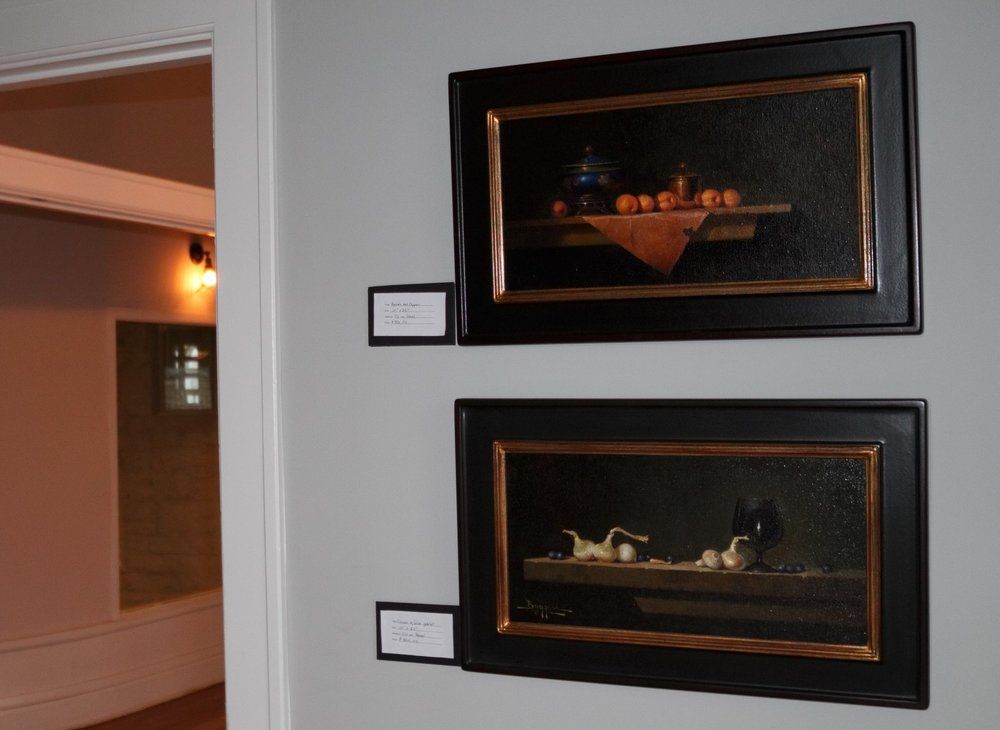 oil paintings by a local artist and customer of Unruh, Mike Bogess, can be purchased