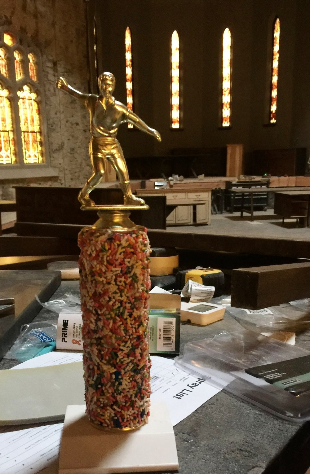 The highly coveted Sprinkles trophy!
