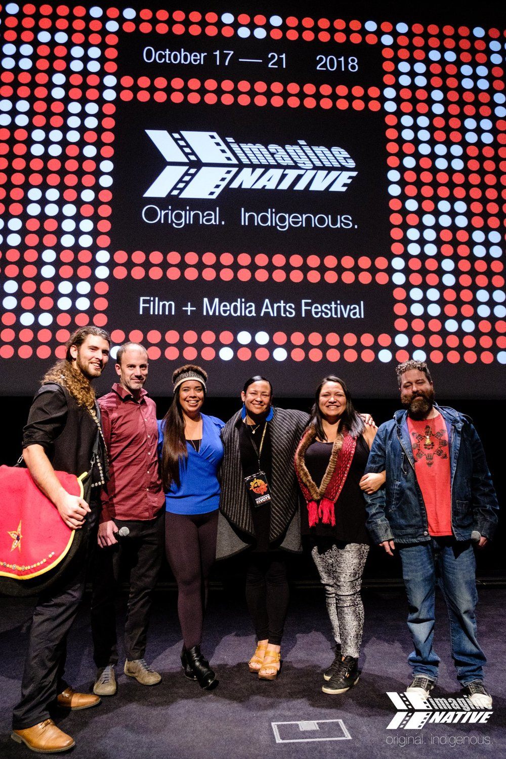 Edge of the Knife   had a successful run at ImagineNative festival in Toronto. Photo credit ImagineNative/Michael Tjioe.