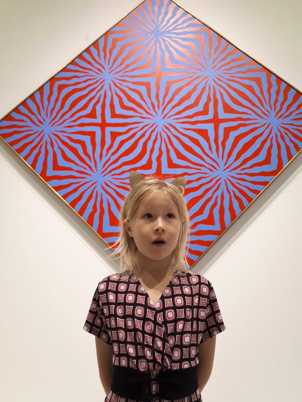 """Children naturally gravitate to art and art making. Najma Holmes, 6, puts it simply: """"I get happy when I make art."""" Here, she is modelling at the Museum of Fine Arts (Musee des Beaux Arts) in Montreal, a visit she called an awesome experience."""" Photo: Venta Rutkauskas"""