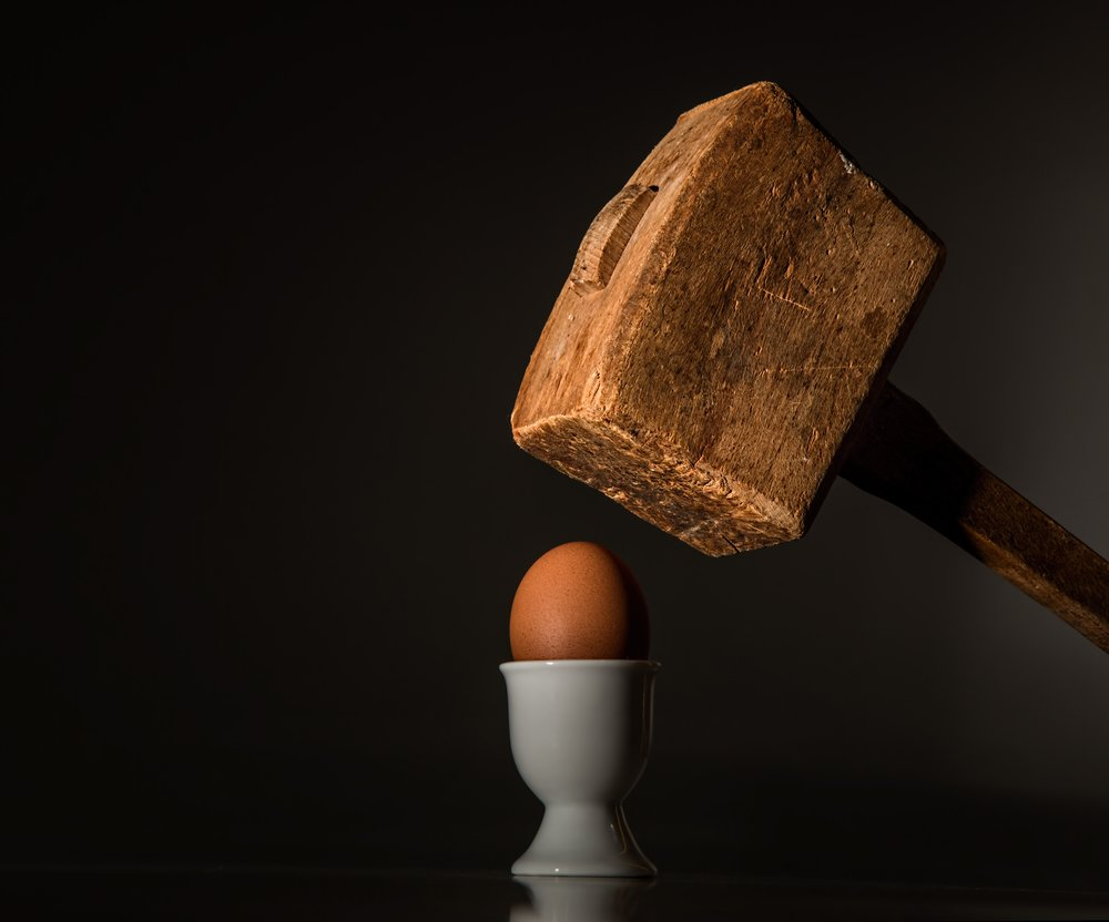 Ideas are like eggs. Once you break them open, you will never get them back in the shell.