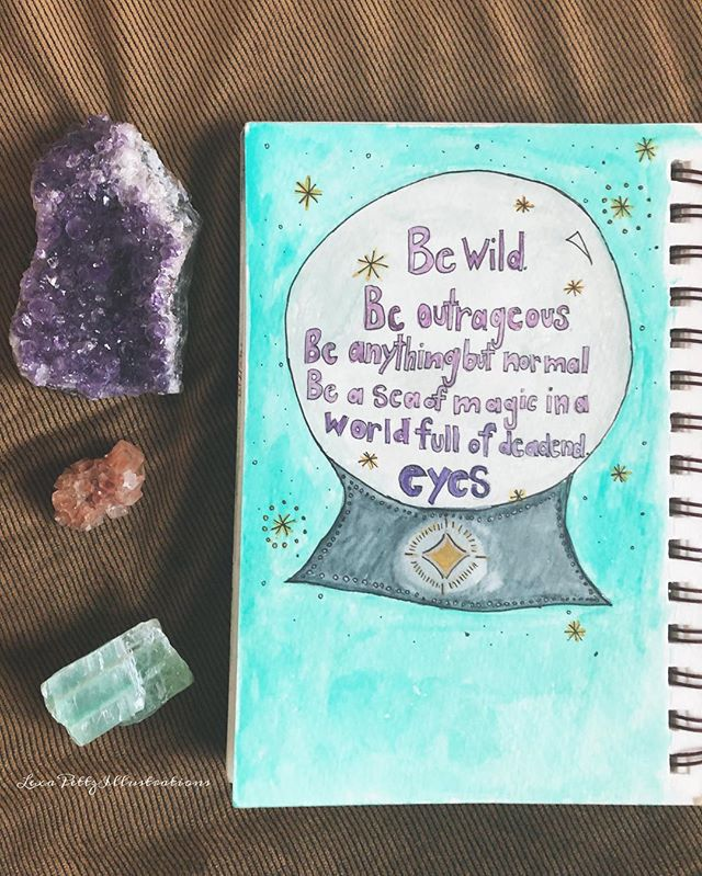 Be Wild. Be outrageous. Be anything but normal. Be a sea of magic in a world full of dead end eyes. 🔮✨🖤••••••••••••••••••#artist#art#illustration#illustrator#painting#paint#boiseartist#boiseart#pnw#idaho#boiseidaho#idahome#watercolor#love#life#autumn#instaart#localartist#gouache#painter#happiness#drawing#rawartists#portland#draw#happinessisart#halloween#witchy#witchesofinstagram#magic