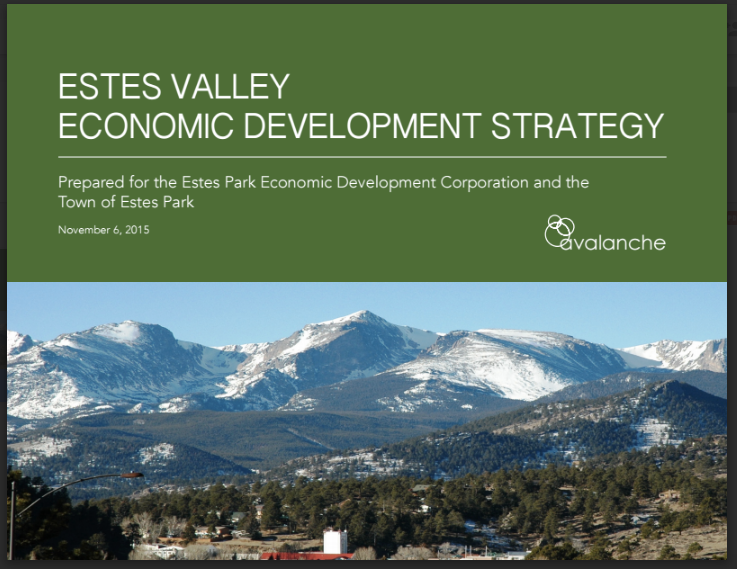 This Report was prepared under an Award from the U.S. Department of Commerce Economic Development Administration Project Number: 05-69-05624.  This publication was prepared by The Town of Estes Park and the Estes Park EDC.  The statements, findings, conclusions, and recommendations are those of the author(s) and do not necessarily reflect the views of the Economic Development Administration.