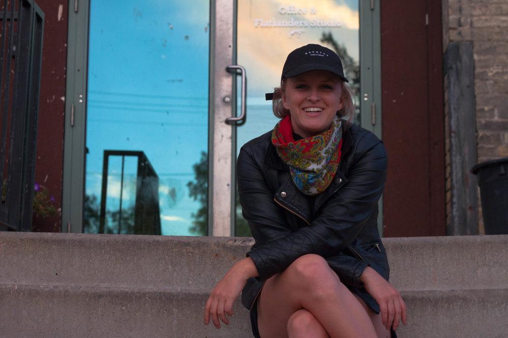 Chloe Chafe, one half of Synonym Art Consultation.