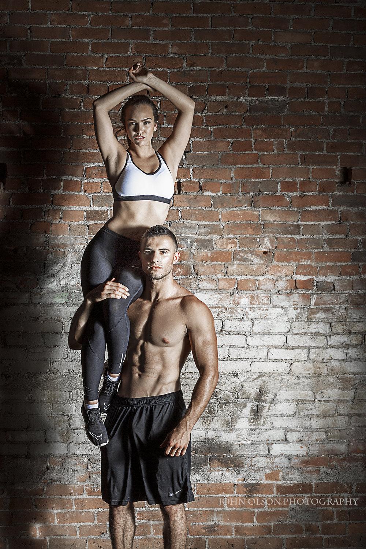 John Olson Photography  Illinois Fitness and Sport Magazine  model Emma Levine, Adrian Hulaj