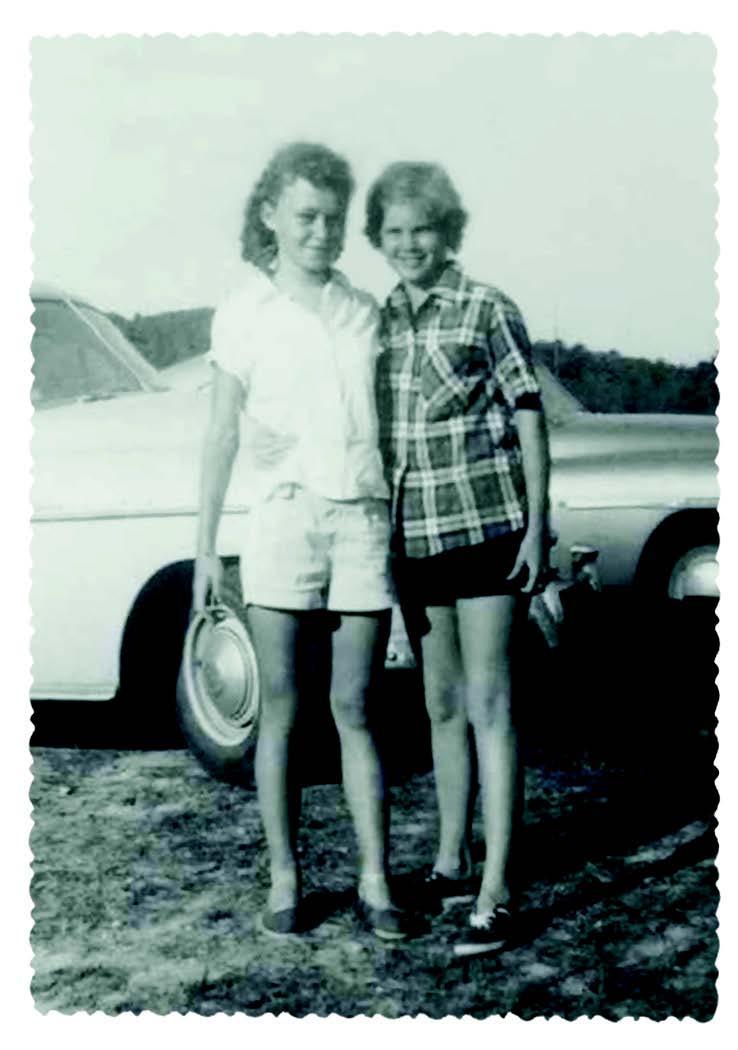 UTEP President Diana Natalicio stands with her childhood friend, Sharon Croissant, in this photo taken in summer 1952 in St. Louis, Missouri. Croissant met President Natalicio in kindergarten.