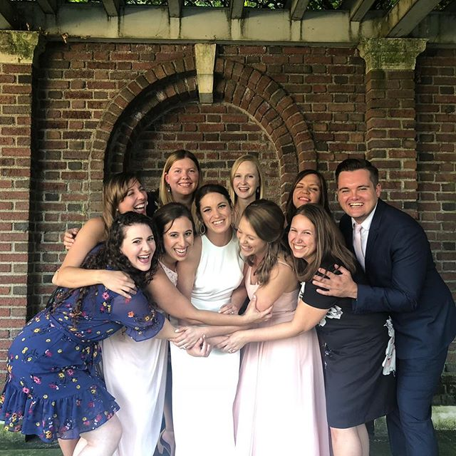 This weekend was full of so much joy and laughter celebrating two of the best humans. Congrats @cashack and @bmferrill. #foreverferrill #iufamily