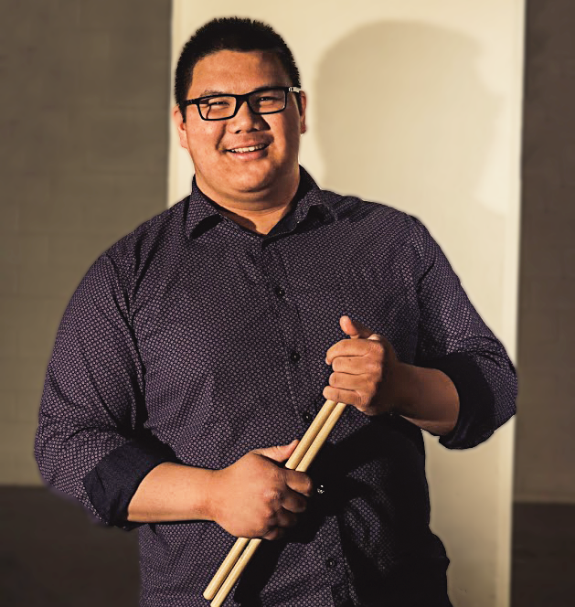 Ryan Ganaban- Drums, Vocals - Ryan Ganaban is currently a music education student at the University of Tulsa. He is active in almost every performing ensemble at the University. While his main instrument is percussion, Ryan is currently pursuing a career in vocal music. Aside from performing, Ryan is also a drum teacher and songwriter. He has played with his church band since the age of 8, and was asked to give a clinic for the students and community around the University of St. La Salle in the Philippines at the age of 17. Ryan's influences range from straight ahead jazz and jazz fusion to progressive rock and heavy metal, and his main idol in the drumming world is the legendary Dave Weckl.