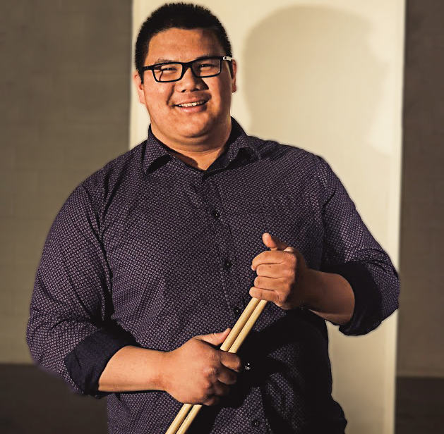 RYAN GANABAN- VOCALS, COMPOSITION, DRUMS - Ryan Ganaban is currently a music education student at the University of Tulsa. He is active in almost every performing ensemble at the University. While his main instrument is percussion, Ryan is currently pursuing a career in vocal music. Aside from performing, Ryan is also a drum teacher and songwriter. He has played with his church band since the age of 8, and was asked to give a clinic for the students and community around the University of St. La Salle in the Philippines at the age of 17. Ryan's influences range from straight ahead jazz and jazz fusion to progressive rock and heavy metal, and his main idol in the drumming world is the legendary Dave Weckl.