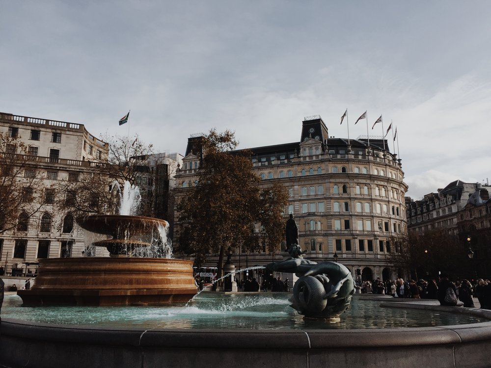I took this photo at Trafalgar Square, it was a peaceful moment.