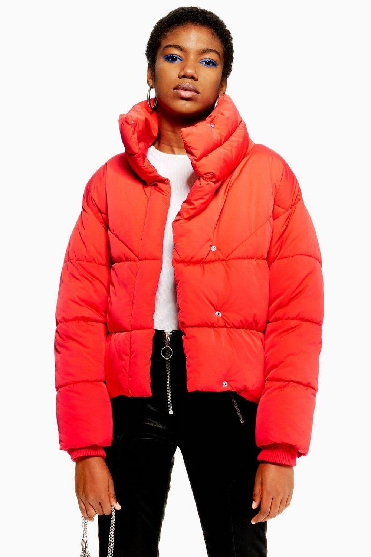 Topshop Wrap Puffer Jacket
