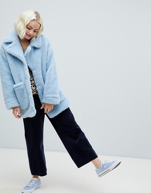 Monki Oversized Teddy Jacket