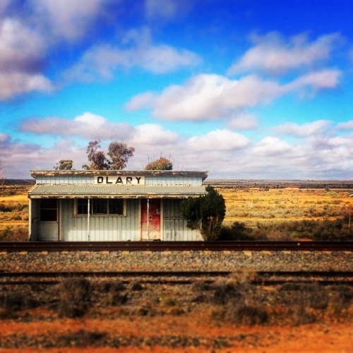 Old train station on the Stuart highway, north of Coober Pedy.
