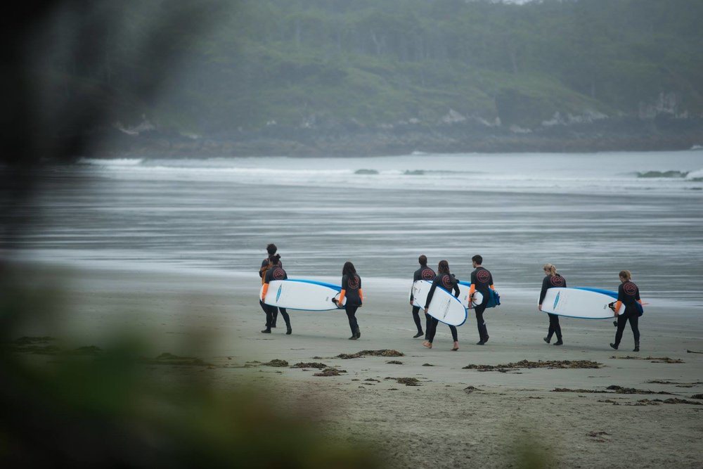 Surf School on Cox Bay, Tofino.