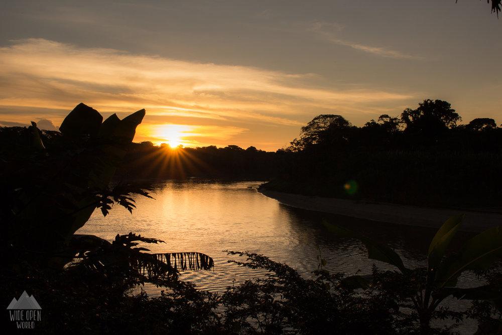 Sunset over Rio Tambopata