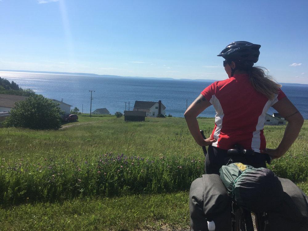 Natasha taking in the view.