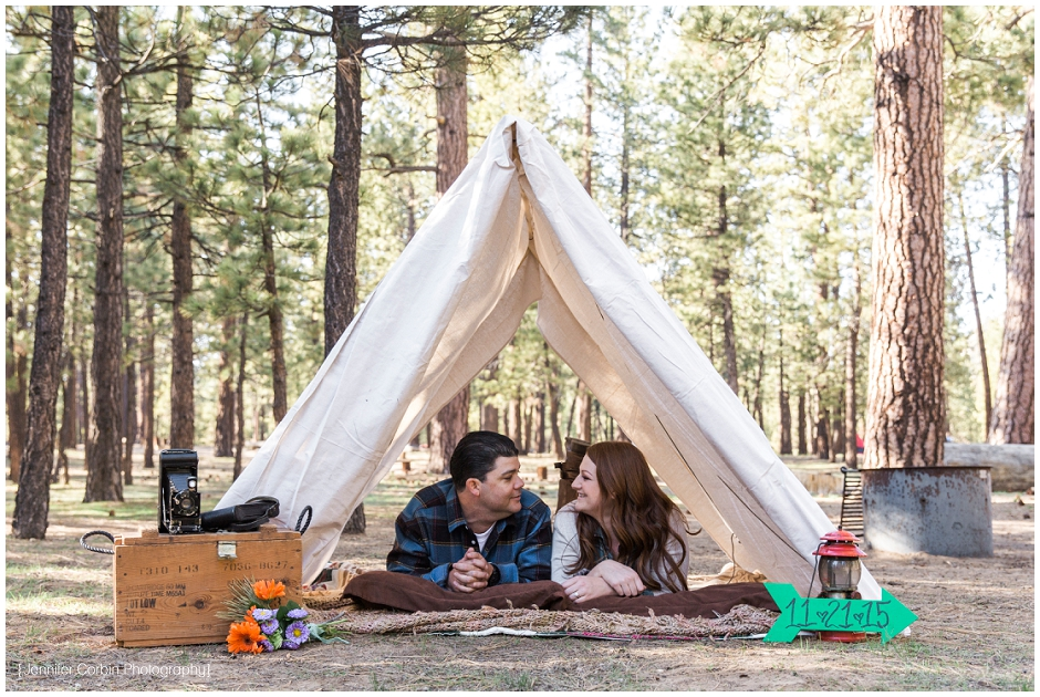Big Bear Camping Engagement Session (3)