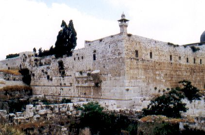 The southwest corner of the temple mount in Herod's time. Some believe this is the pinnacle of the temple.