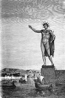 The Colossus of Rhodes , as depicted in an artist's impression of 1880