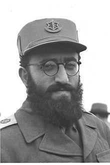 A young General Shlomo Goren - Head of the Mlitary Rabbinate.