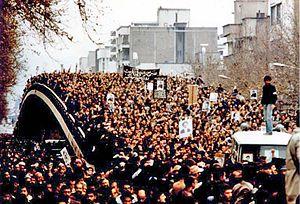 Protesters in Tehran 1979