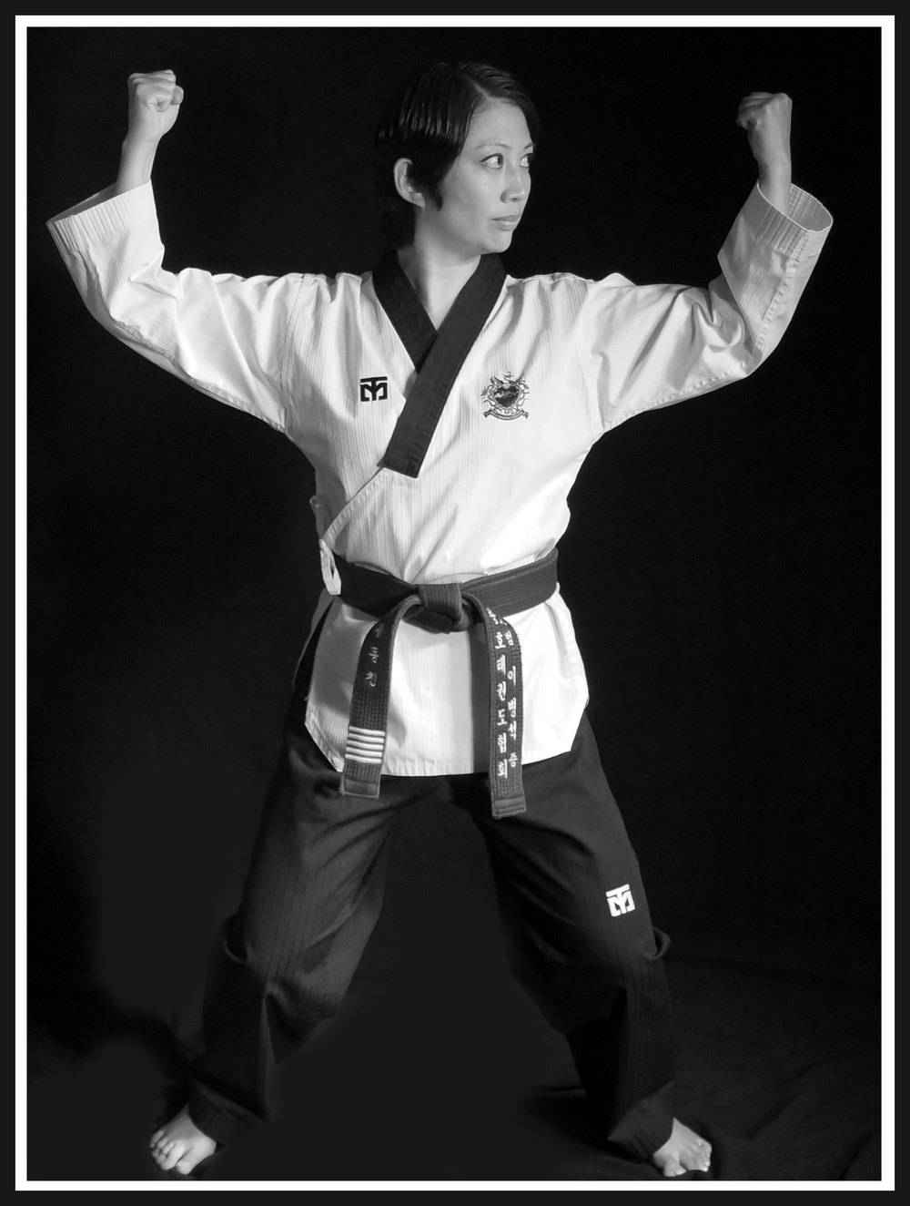Master Chin - the owner and head martial arts instructor.  Karate instructor.  National taekwondo champion.  State taekwondo champion