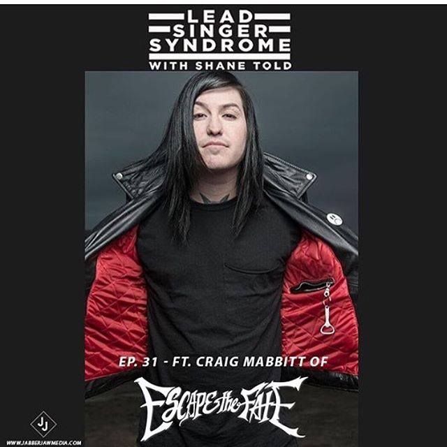 Check out @craigmabbitt in @shanetold @leadsingersyndrome podcast on the @jabberjawmedia podcast network!  He talks about his departures from @blessthefall and @thewordalive and what it was like to join @escapethefate!  https://soundcloud.com/leadsingersyndrome/episode31