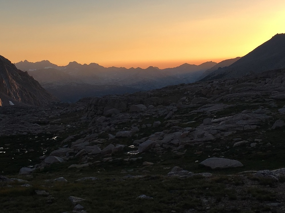 Sunset after the storm on our last night- at the base of Mt. Whitney