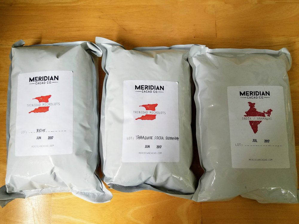 Surprising summer 2017 samples from Meridian Cacao.
