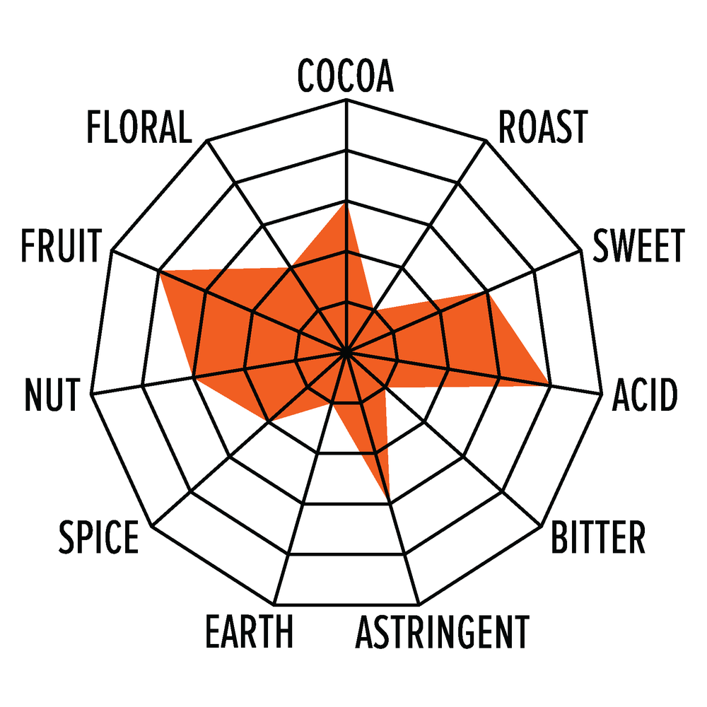 Flavor profile: Venezuela Guasare 74% dark