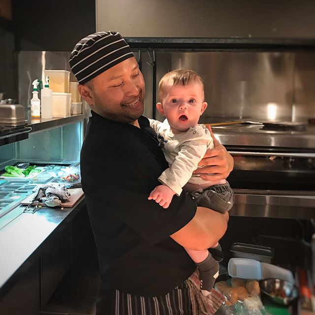 We have a new apprentice in the kitchen! Head chef Rizky said Kai will be spinning pizzas in no time 🍼🍕 . . . . #backyarditalian #maroubrajunction #maroubracommunity #apprenticechef #cute