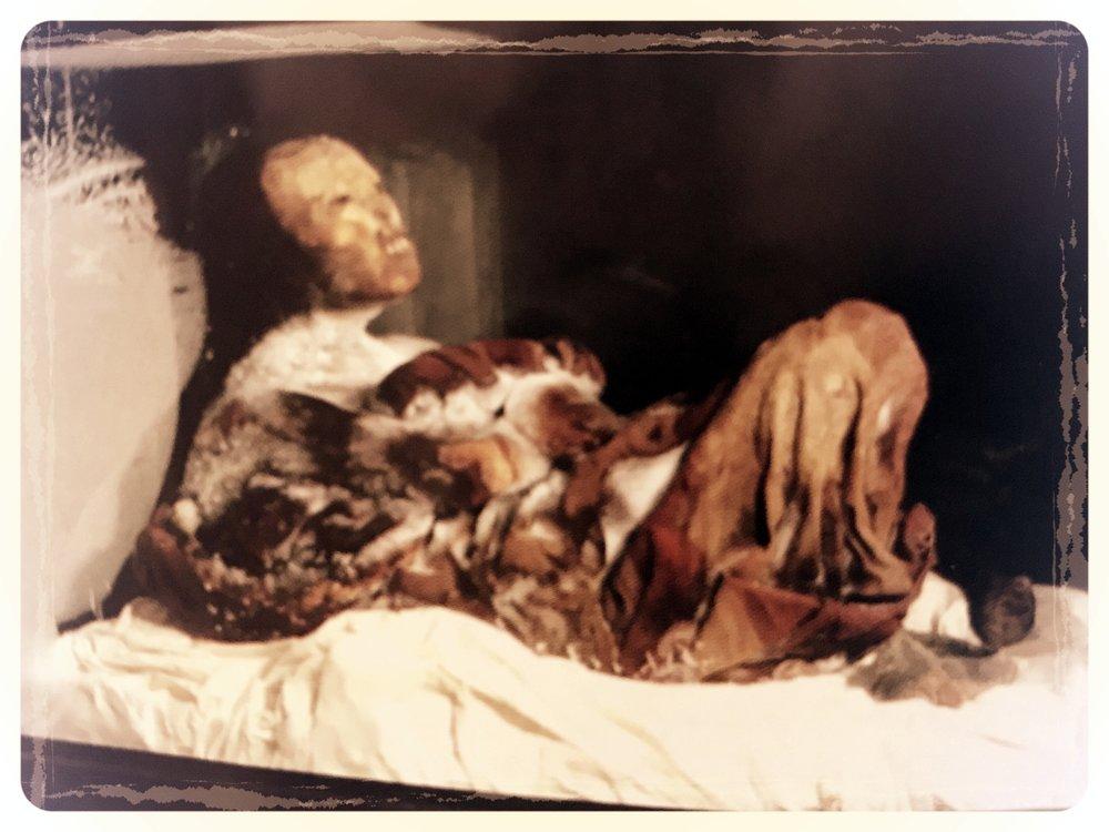 The frozen body of Juanita (Source:  Museo Santuarios Andinos )