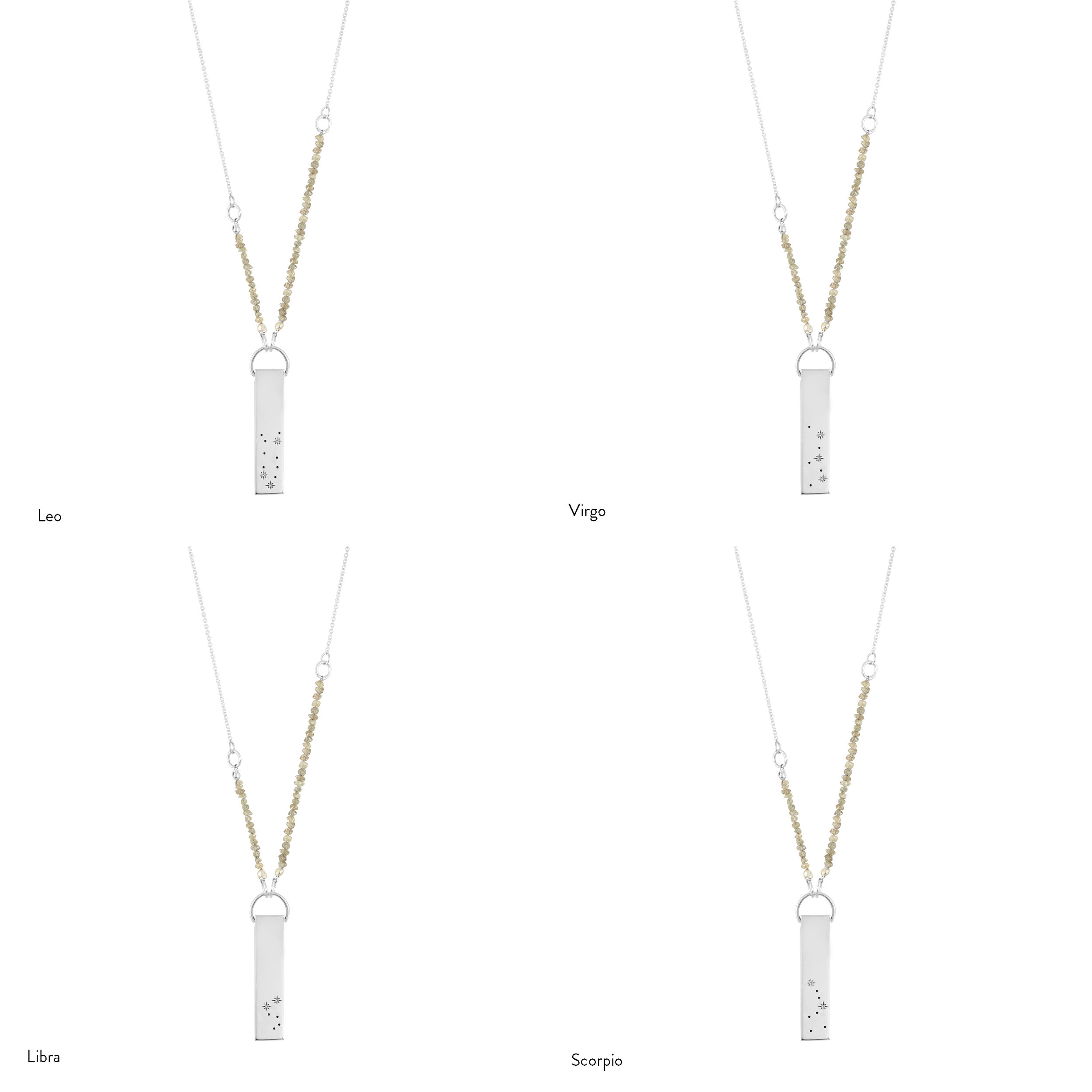 claire gold necklace zodiac leo pendant s
