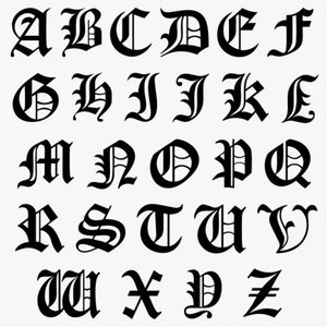 Old English Font Examples