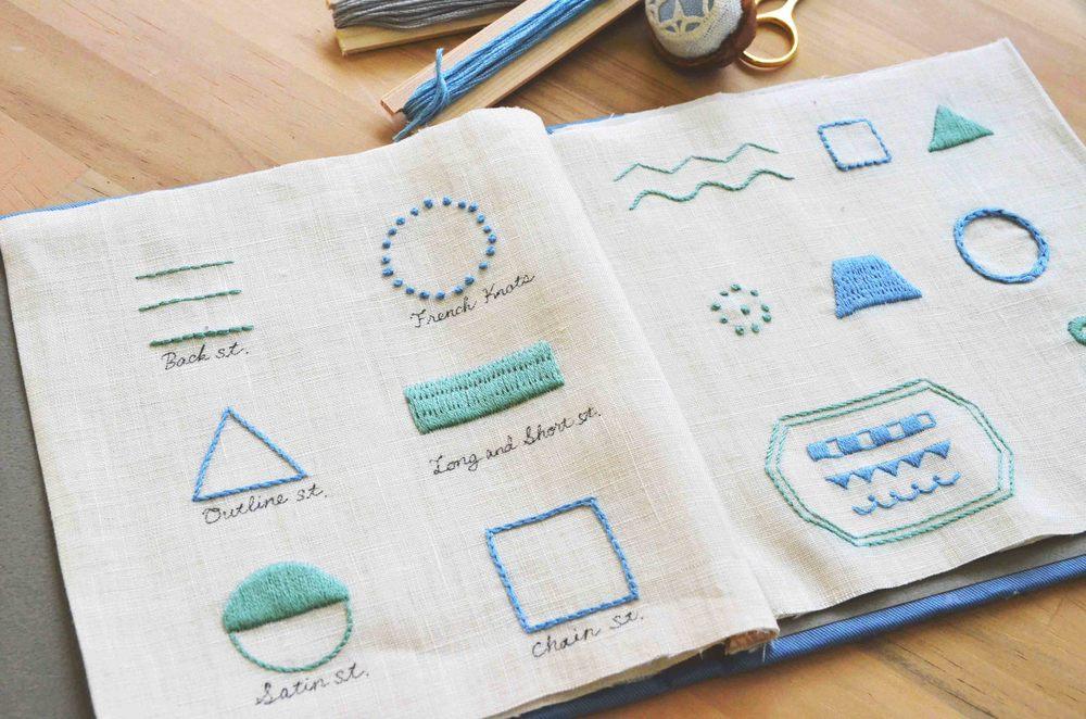 北欧刺繍 刺繍見本帳