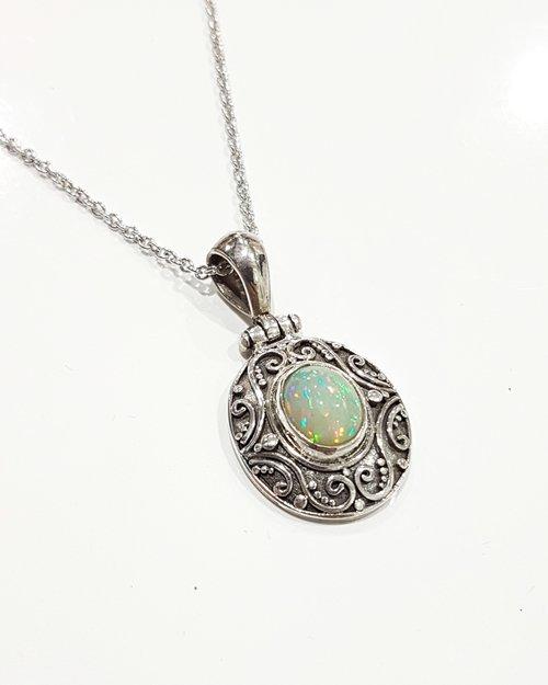 Ethiopian opal pendant ryley jewellery creations ethiopian opal pendant mozeypictures Choice Image