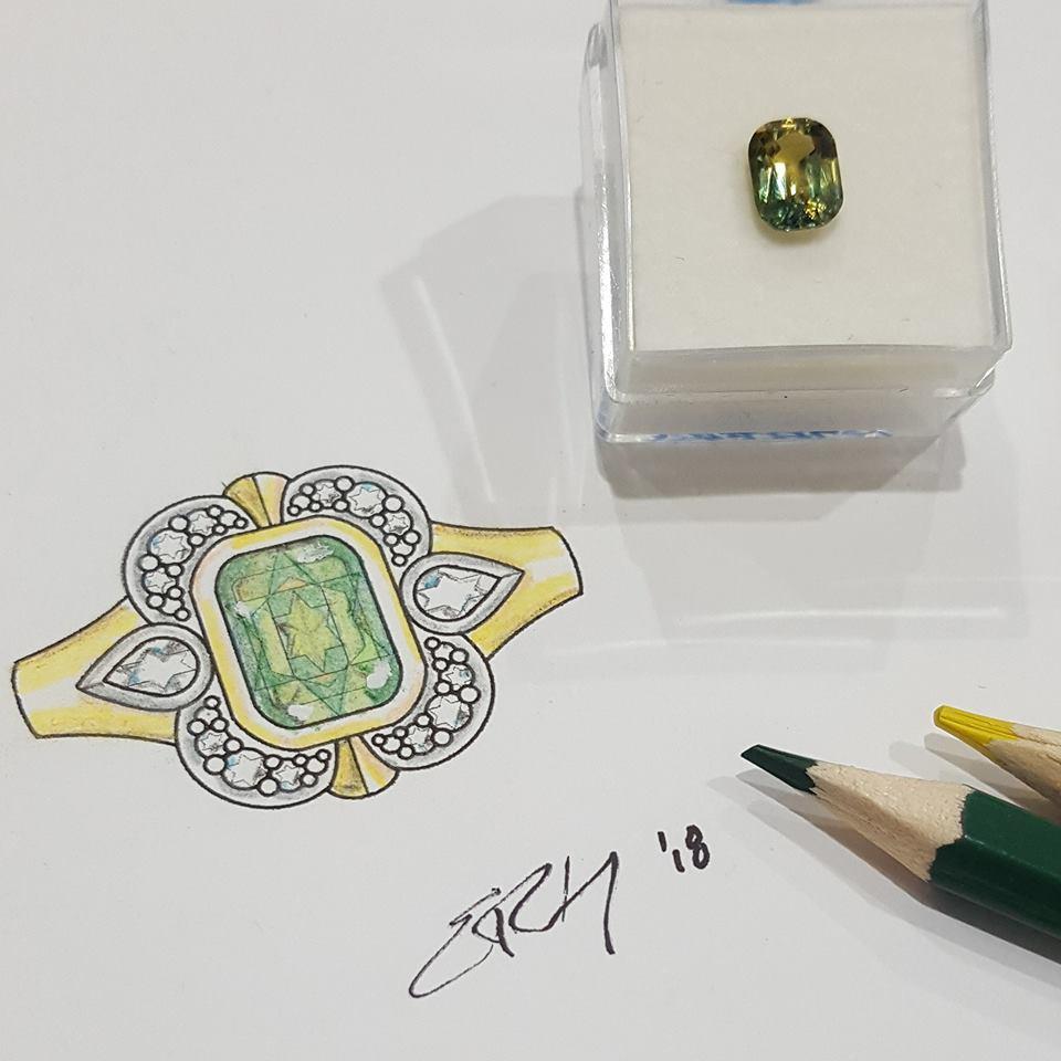Parti Sapphire and Diamond Dress Ring