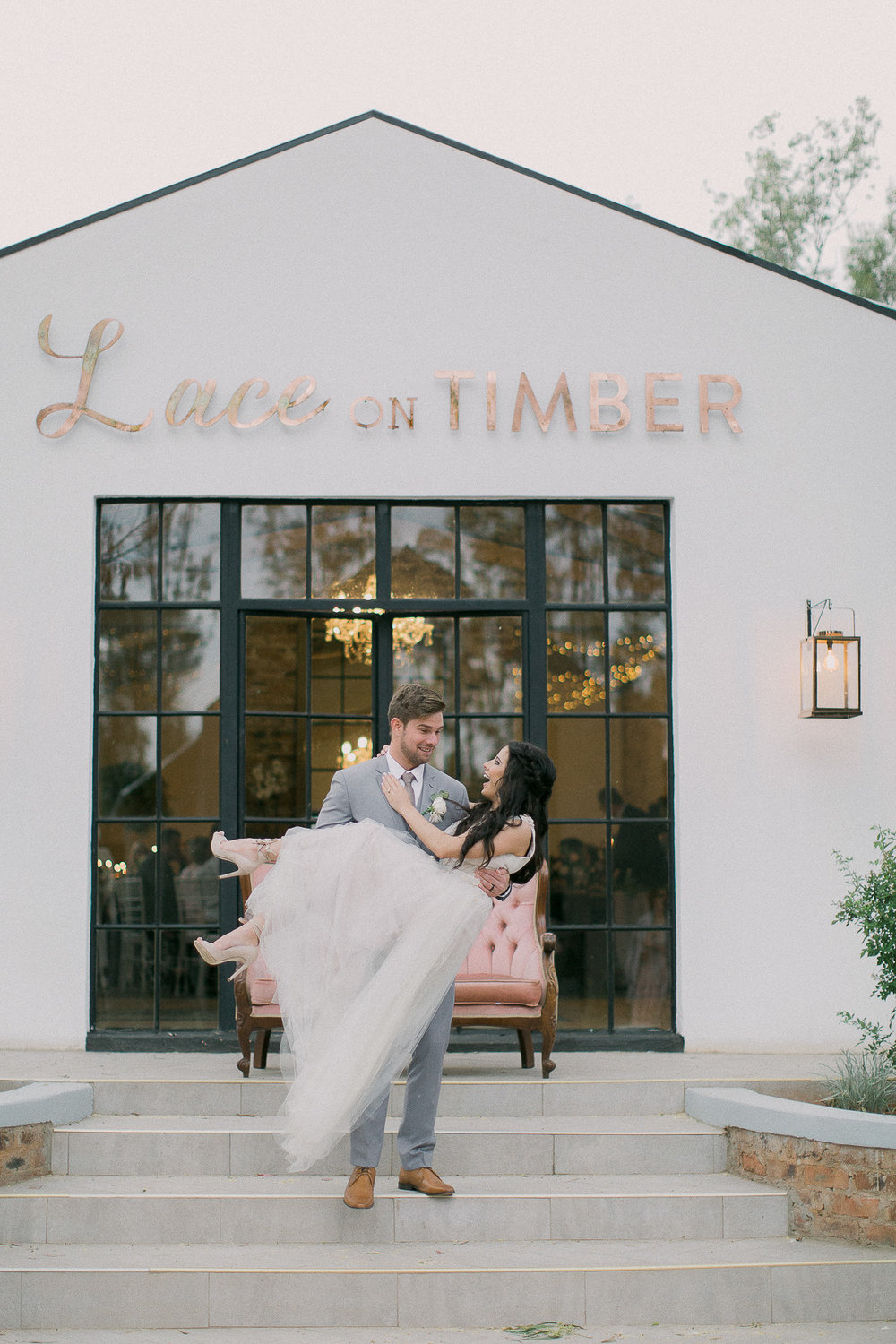 Justin & Robyn - Lace on timber WEDDING