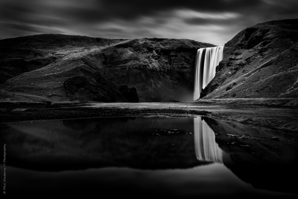 Skógafoss Reflected I  by  philnewberryphotography licensed under  CC BY 2.0