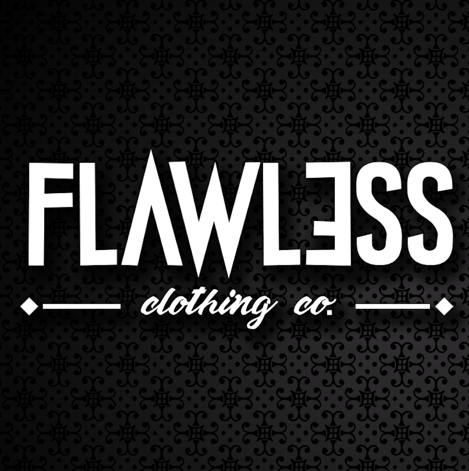 Flawless clothing co.  Comissioned to make a new logo and design for the Flawless Cltohing co.