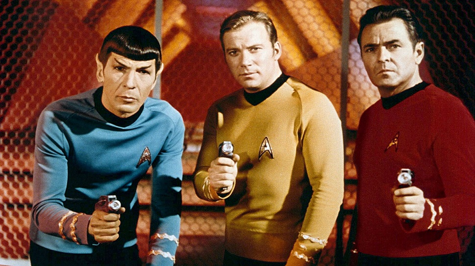 - Turn the damn lights off, we're watching Spock & Co.