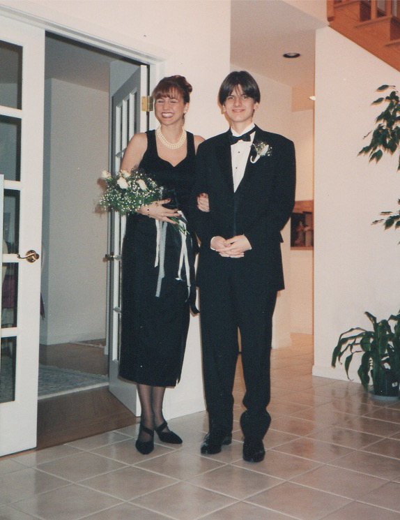 My first parental-approved date.  Winter Formal 1994.  Look at my smile.  A boy!  Squee!
