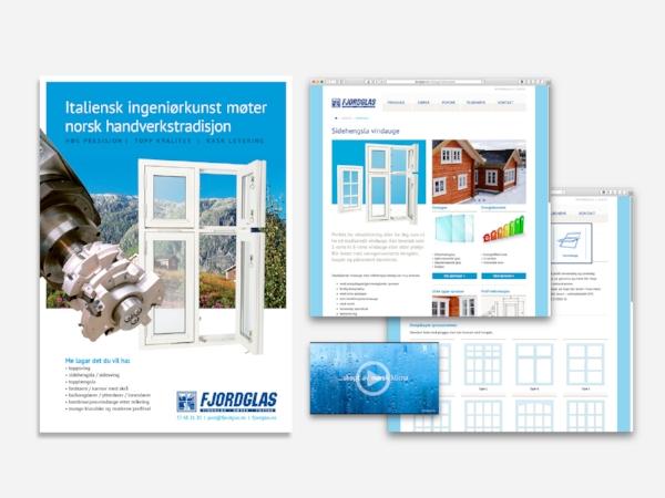 Fjordglas – website, video, brochures