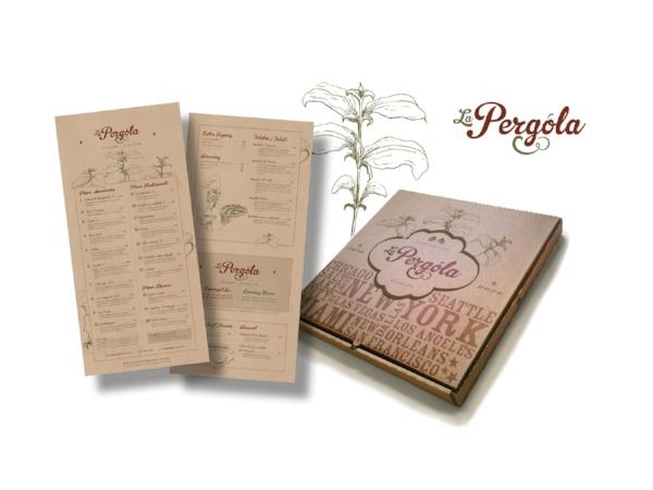 La Pergola – brand identity, signage, menus, packaging