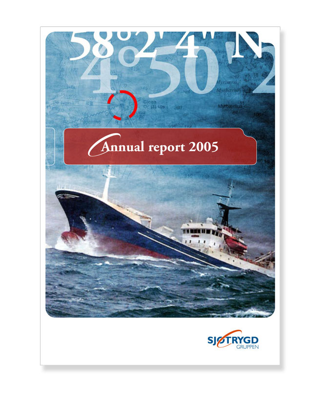 Sjøtrygdgruppen annual report, 2005. Client M&M.