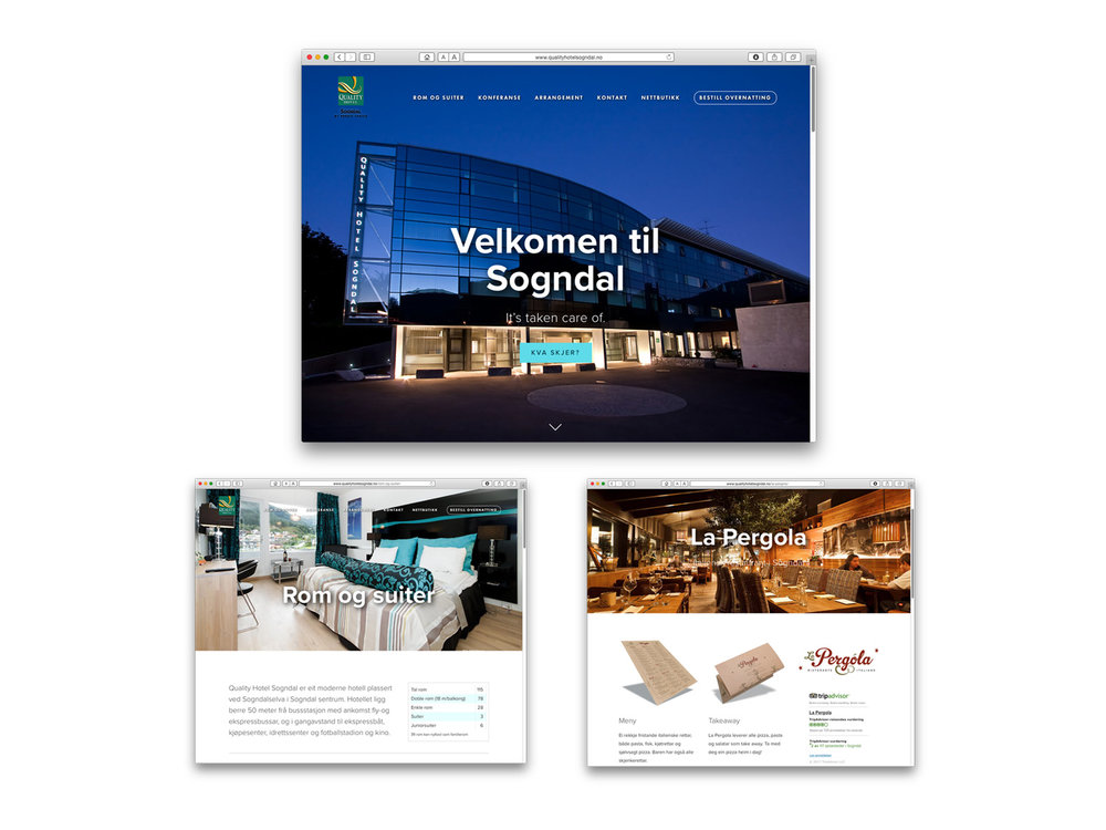 Quality Hotel Sogndal – website, digital advertising