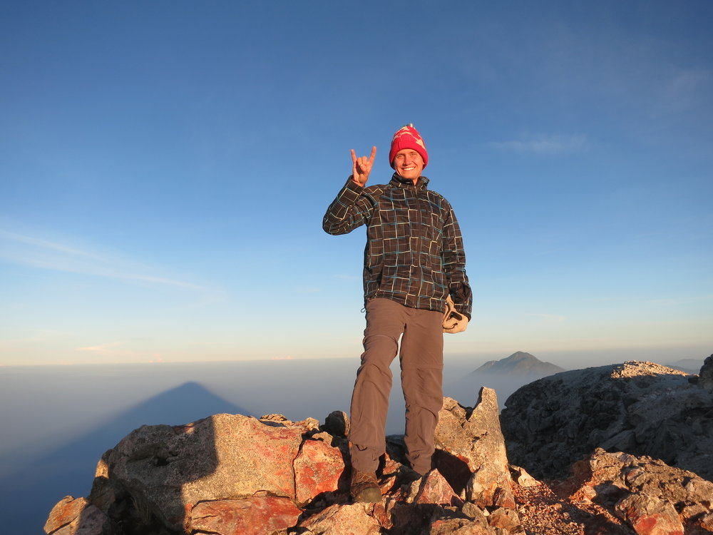 Sunrise at the summit of the Tajumulco Volcano on the Guatemala/Mexico border - the tallest peak in Central America